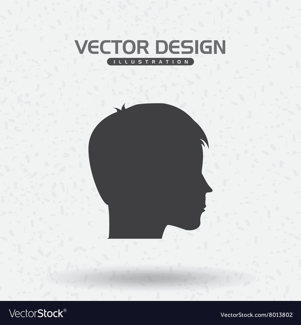 Profile icon design vector