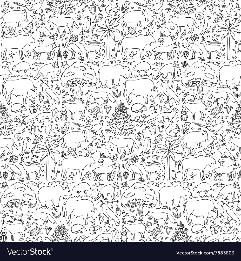 Hand drawn europe seamless pattern vector