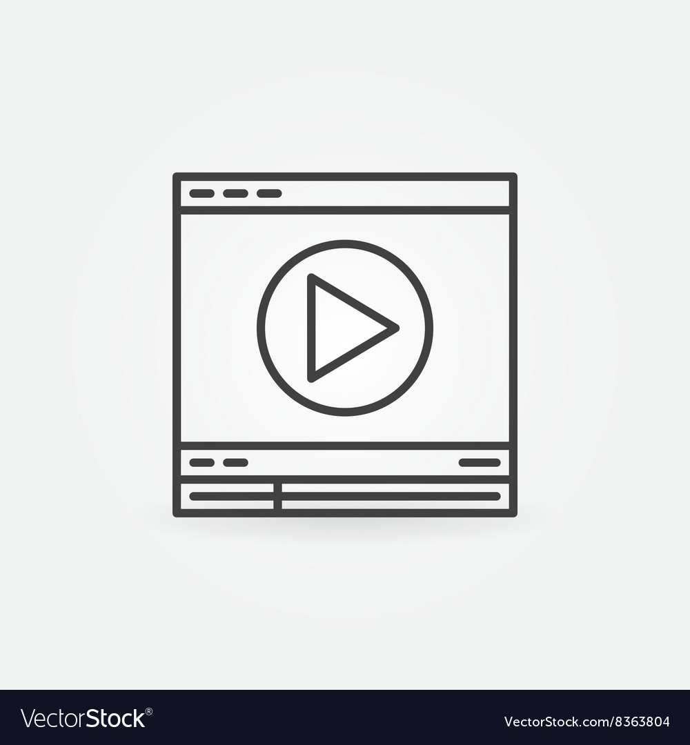Video player linear icon vector