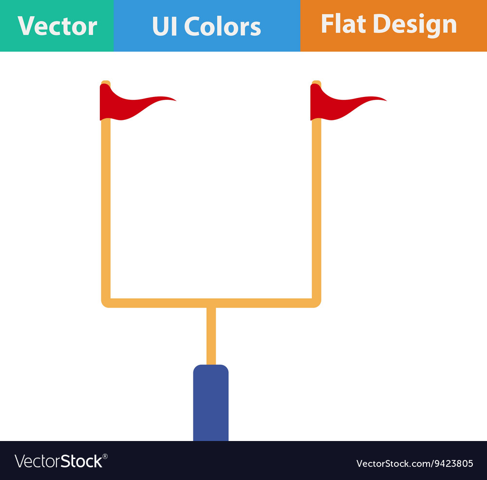 American football goal post icon vector
