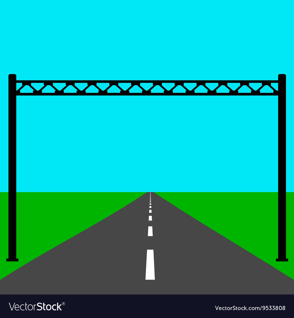 Blank road sign on the road vector