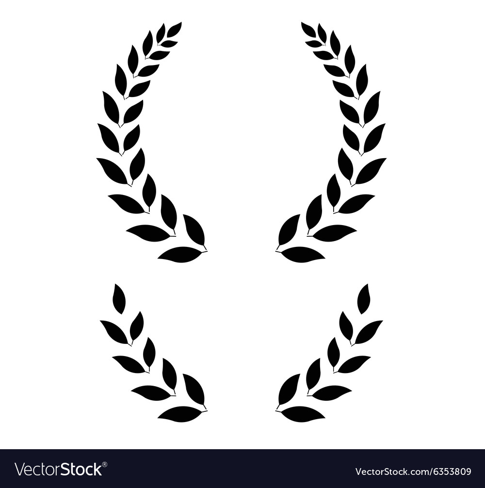 Simple laurel wreath  vector