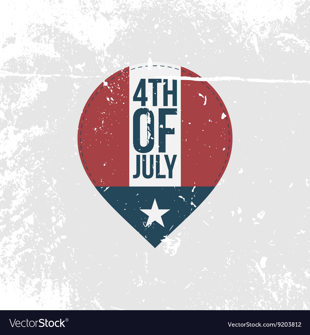 Independence day 4th of july vintage banner vector