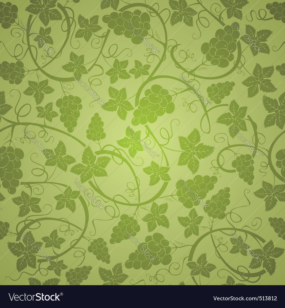 Vine seamless background vector