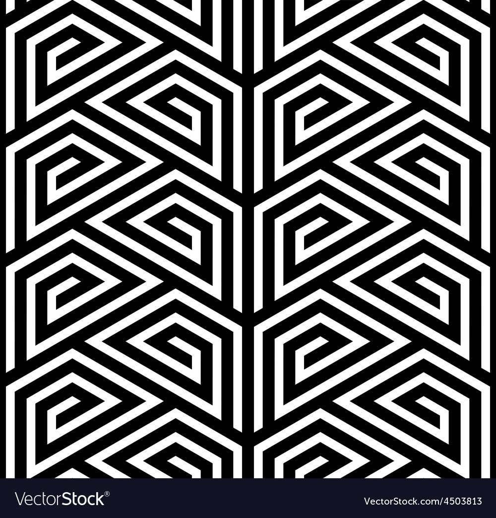 Abstract black and white zigzag seamless pattern vector