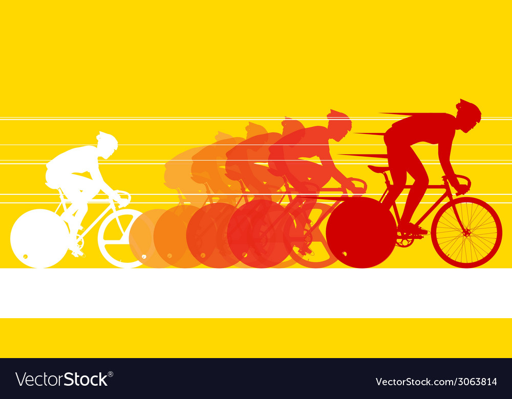 Cyclist in the bicycle race vector