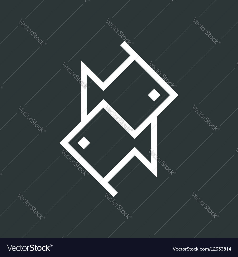 Fish isolated icon vector