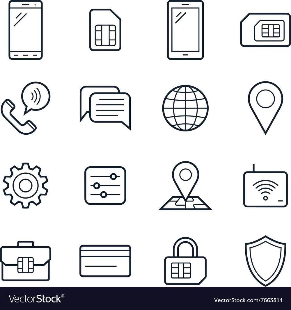 Mobile network operator icons vector
