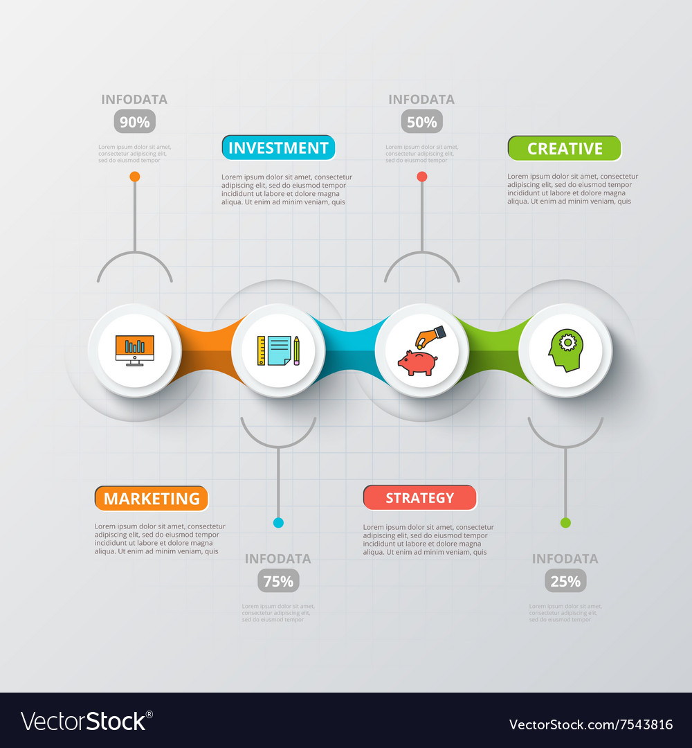 Circles for infographic vector