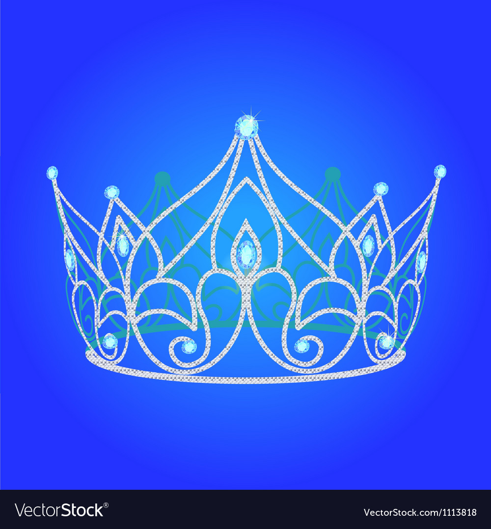 Jewels tiara vector