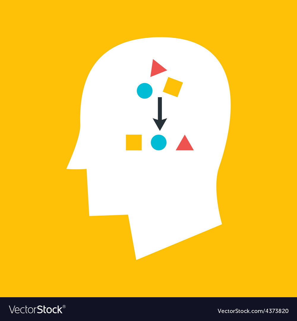 Man sort something in his head vector