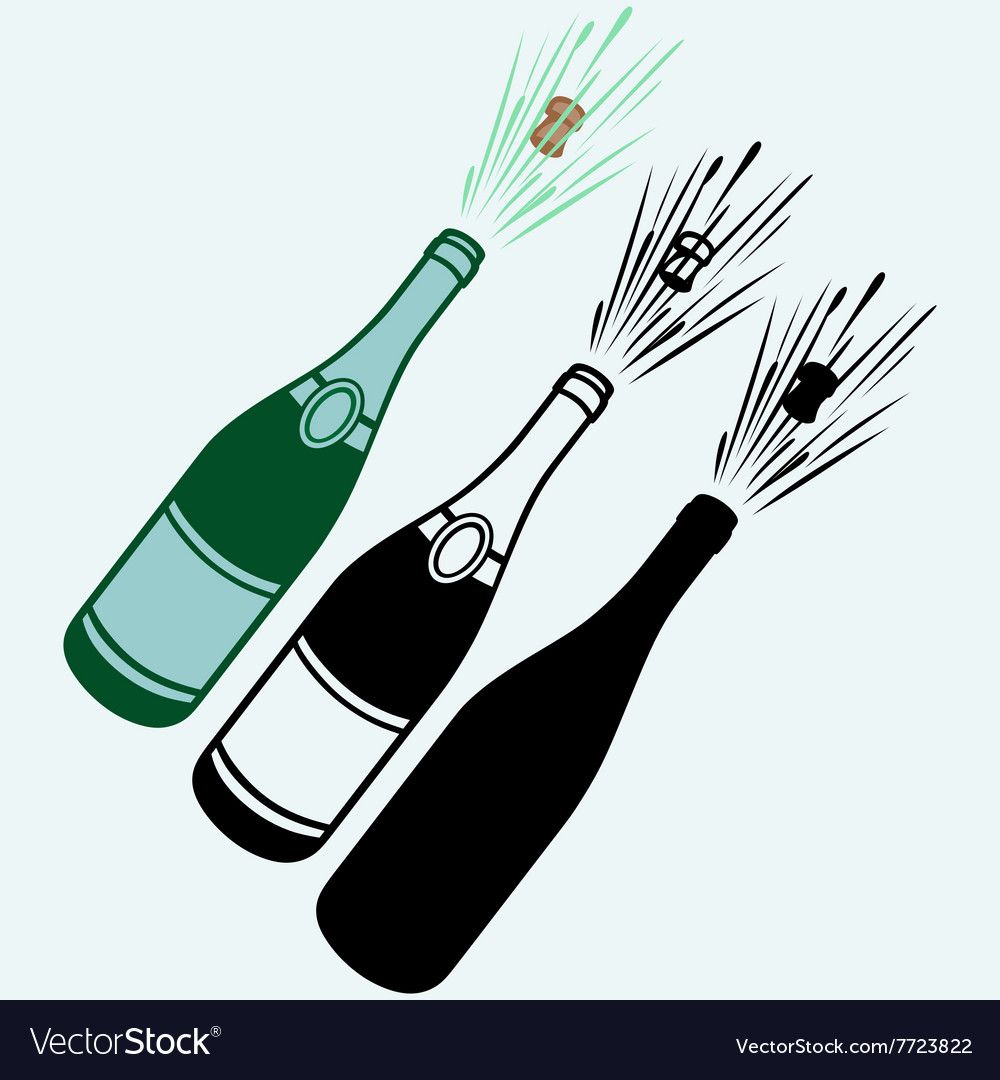 Closeup of champagne explosion vector