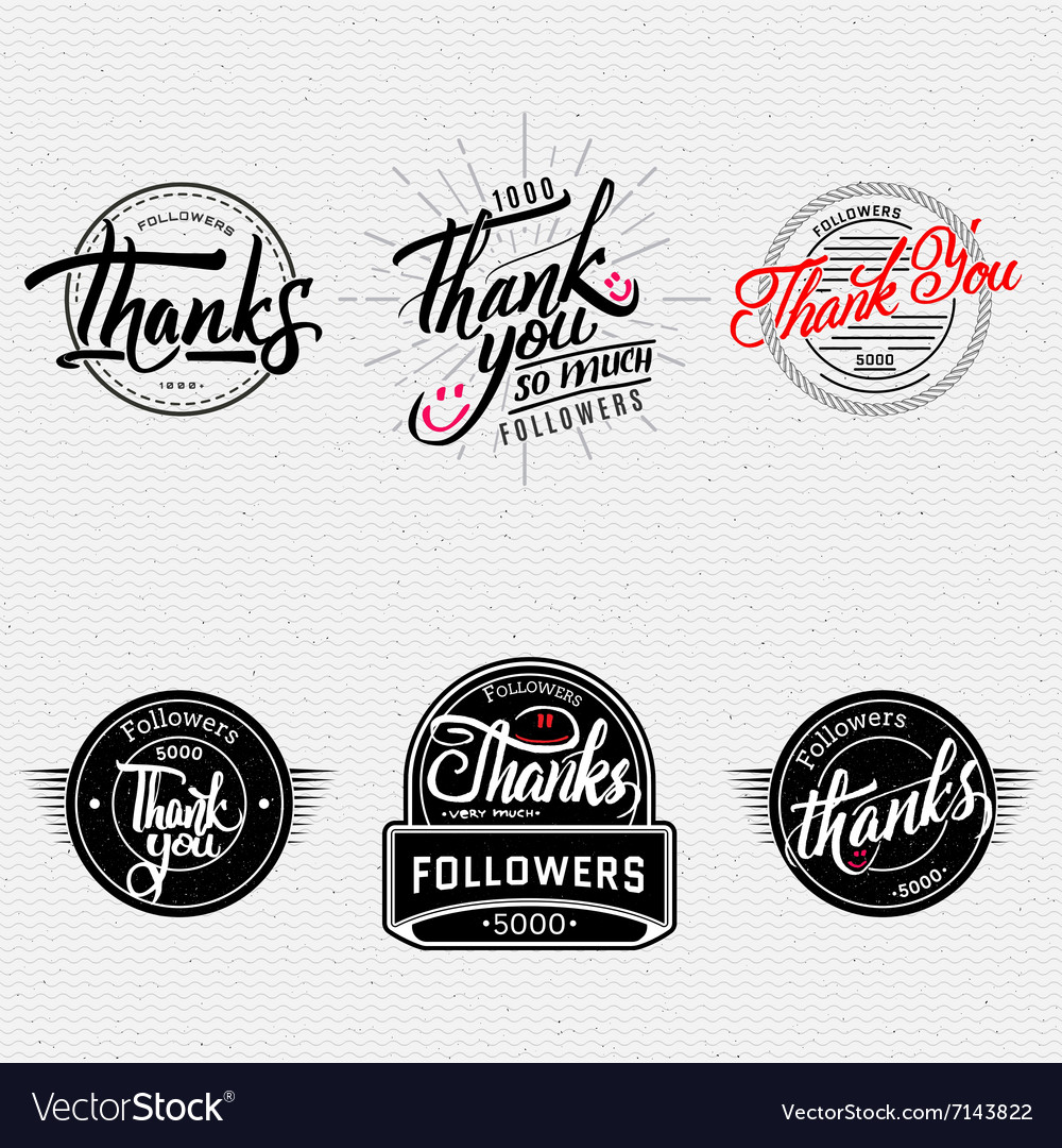 Thank you  typographic calligraphic lettering vector