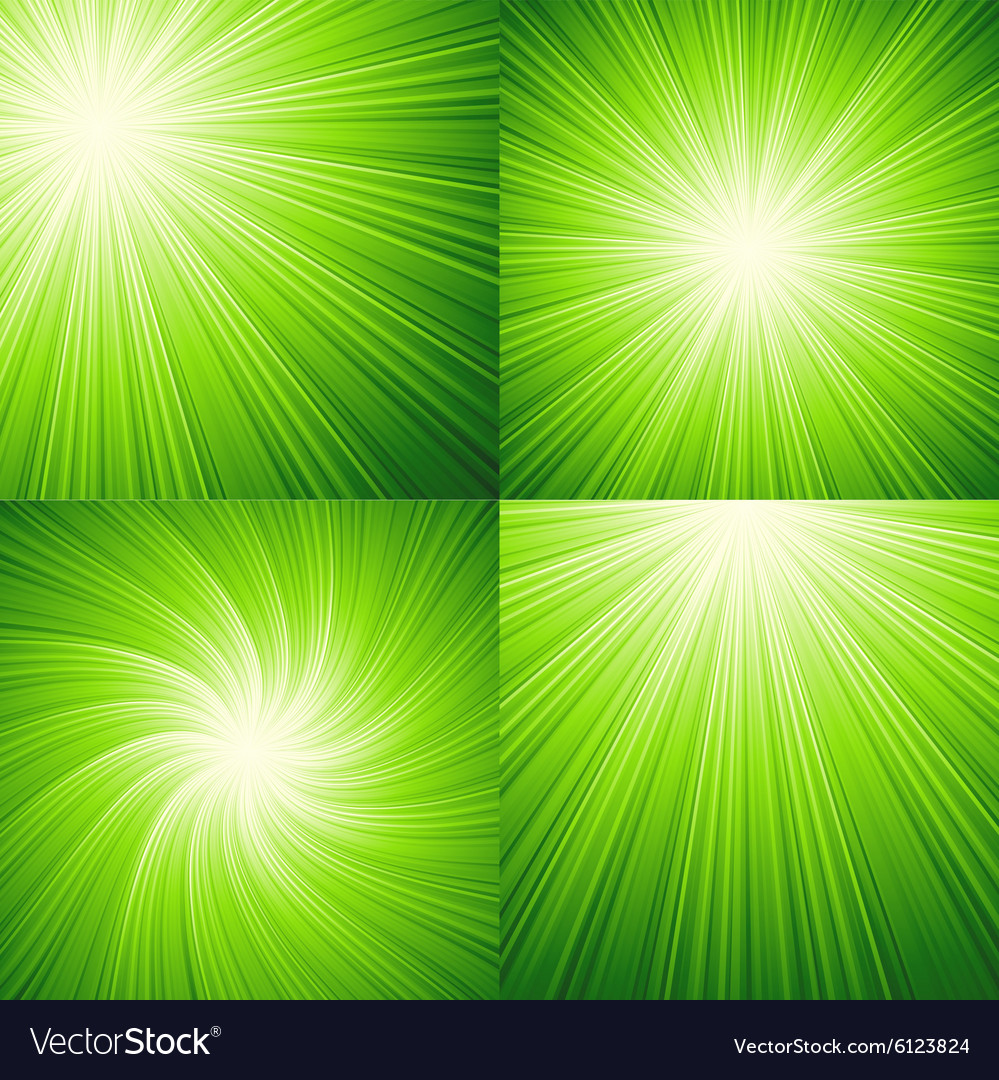 Sunbeams green background vector