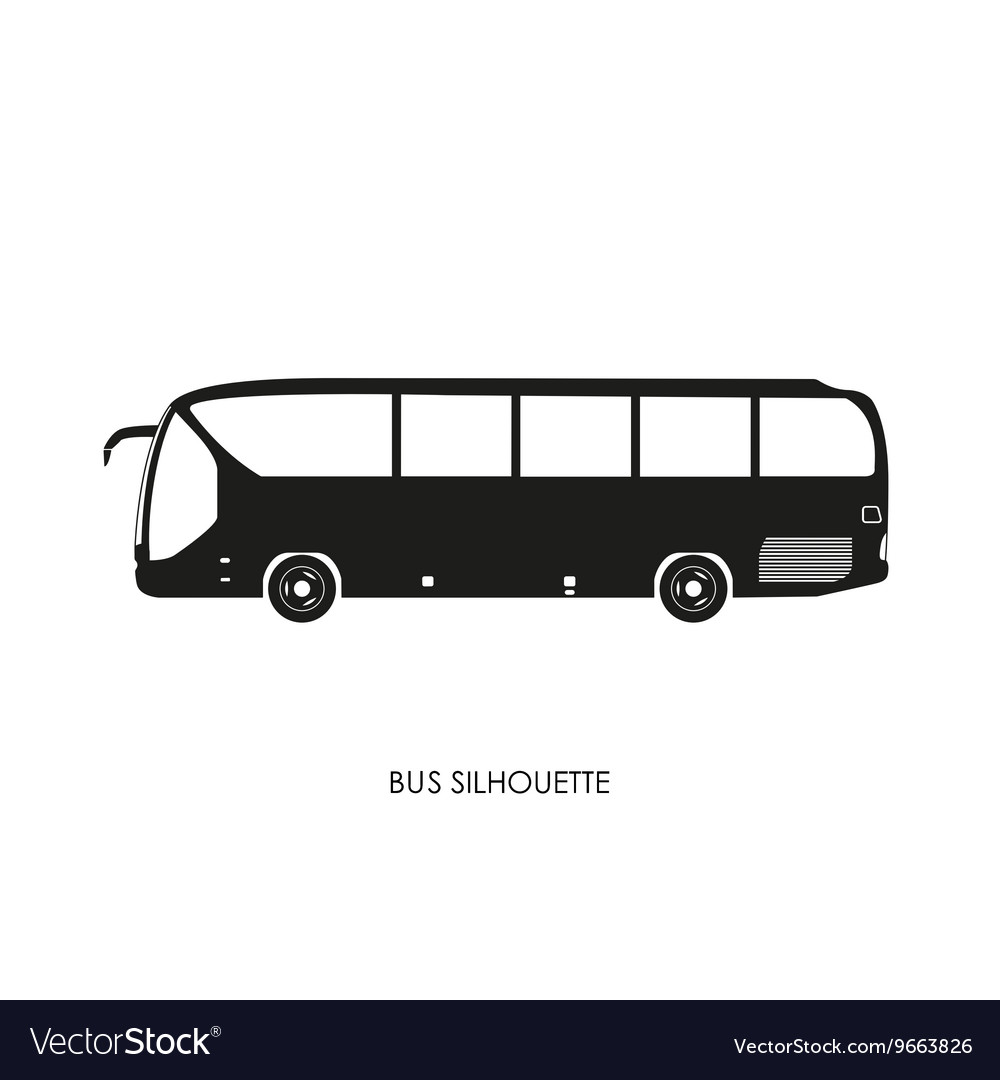 Bus black silhouette on a white background vector