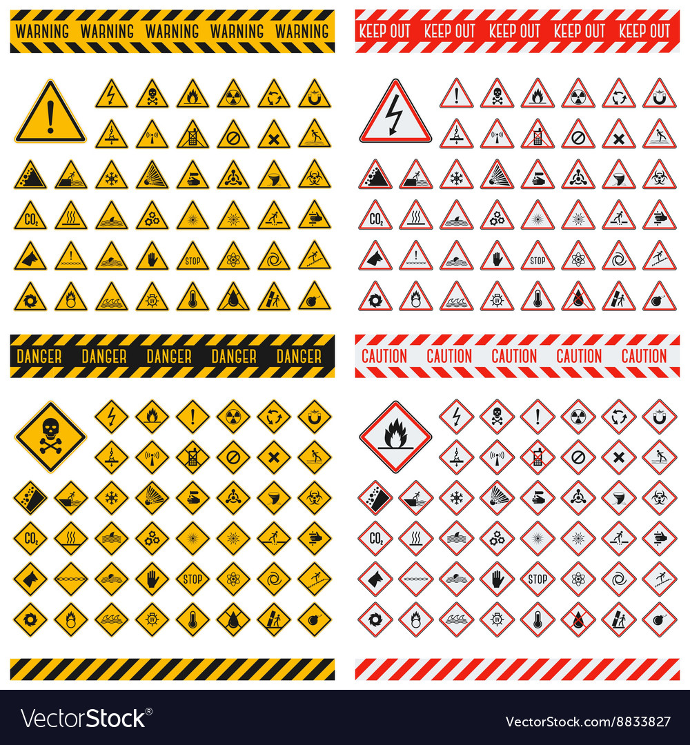 Danger sign collection vector