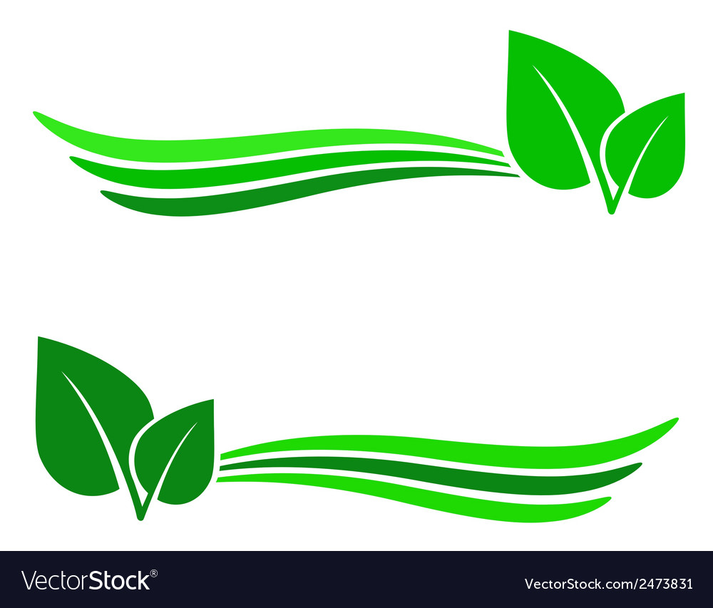 Abstract background with green leaf vector