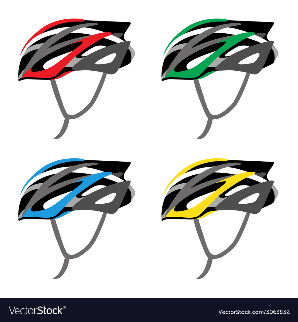 Bicycle safety helmet vector