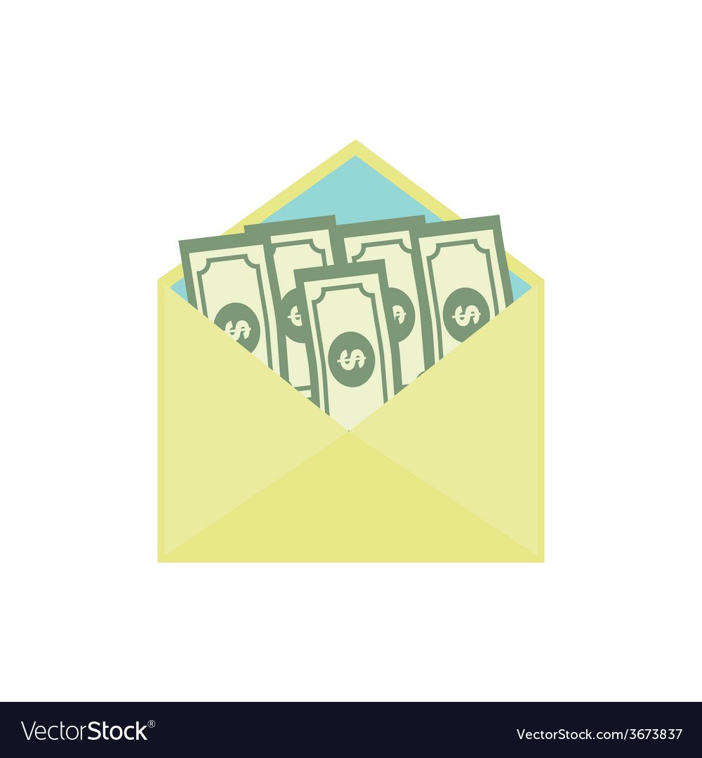 Bribe flat icon corruption concept vector