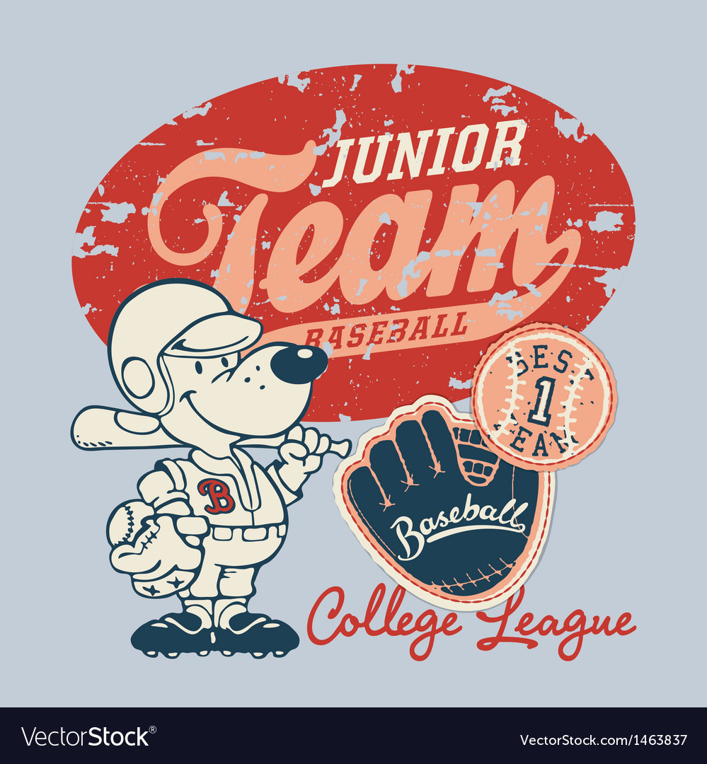 Cute baseball player vector