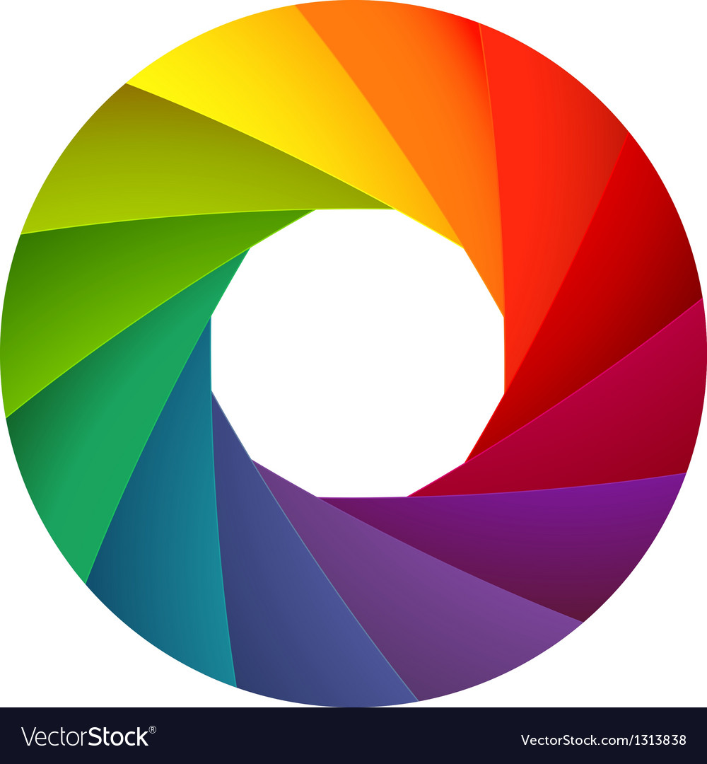 Colorful shutter aperture vector