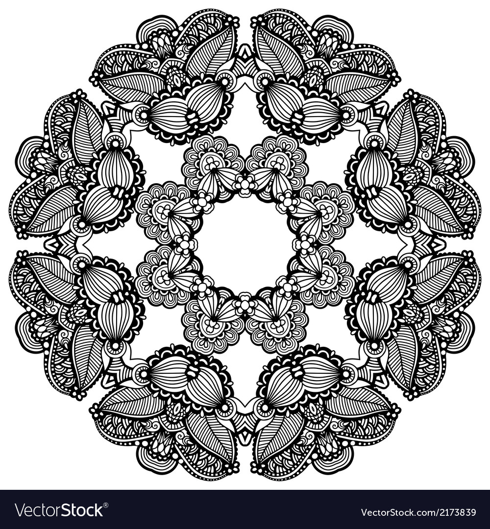 Geometric doily pattern vector