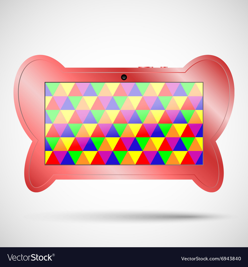 Children s tablet with educational games vector