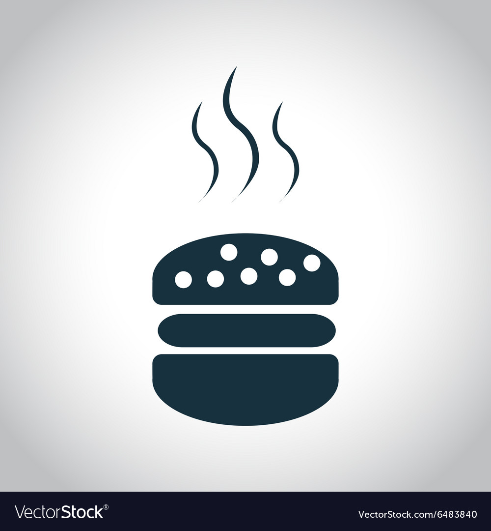 Hot hamburger icon vector