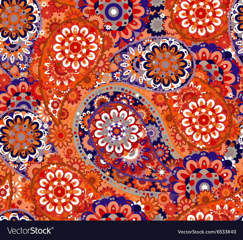 Seamless pattern based on traditional asian vector