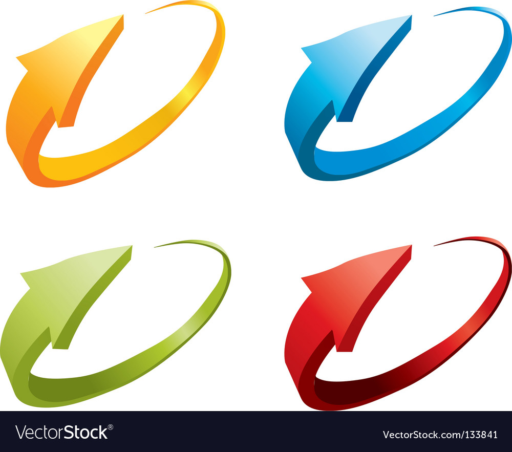 3d colorful arrows vector