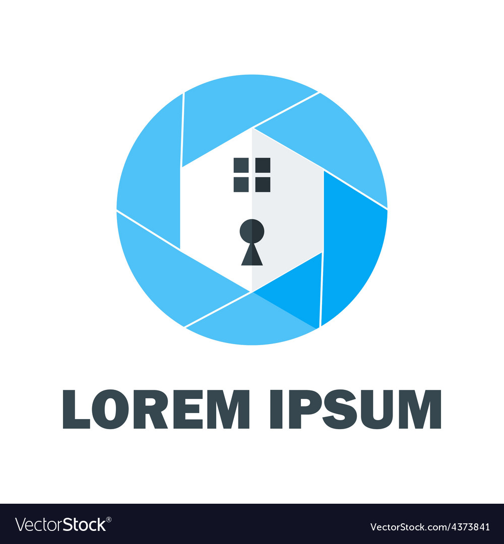 Blue home logo vector