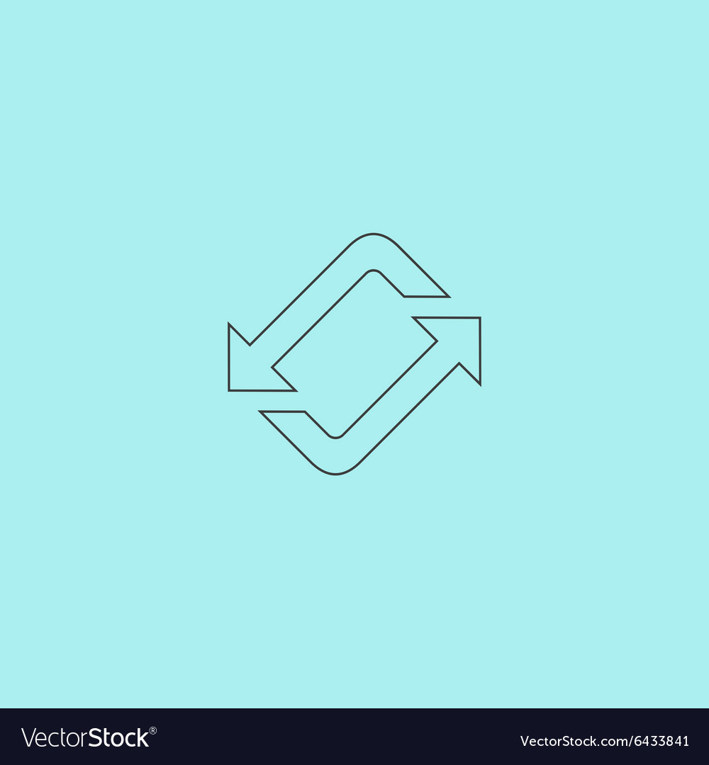 Spinning rotating arrows vector