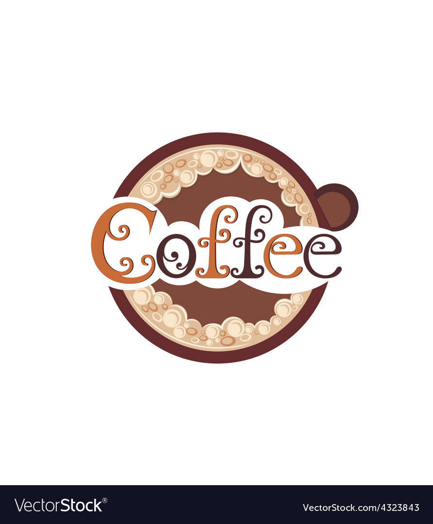 Poster with a coffee cup vector