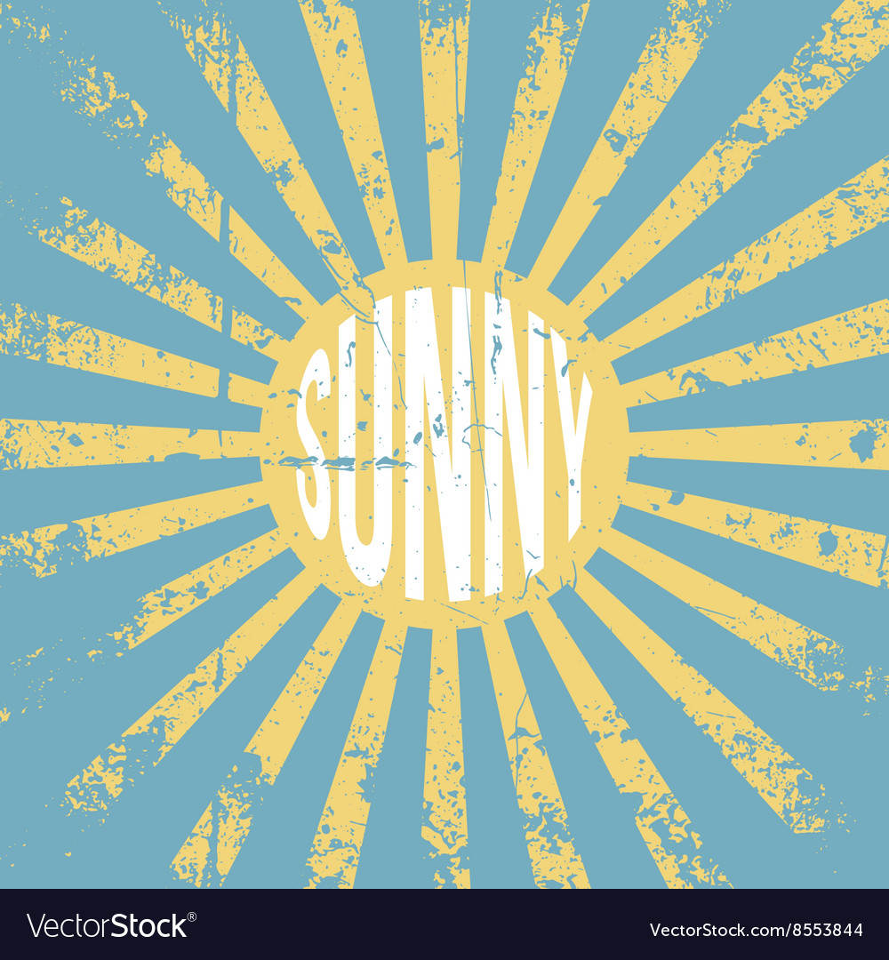 Sunny vintage grunge background vector