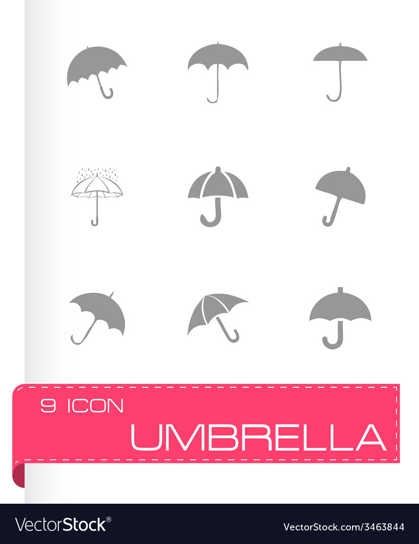 Umberlla icon set vector