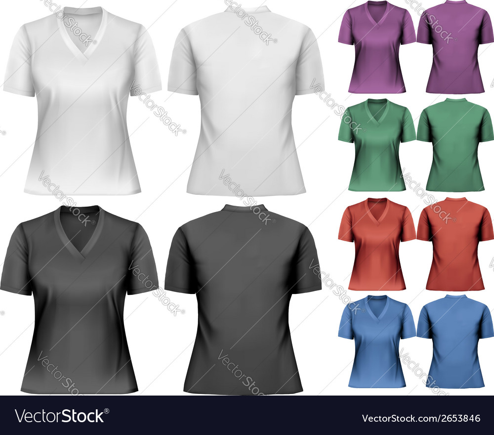 Female tshirts design template vector