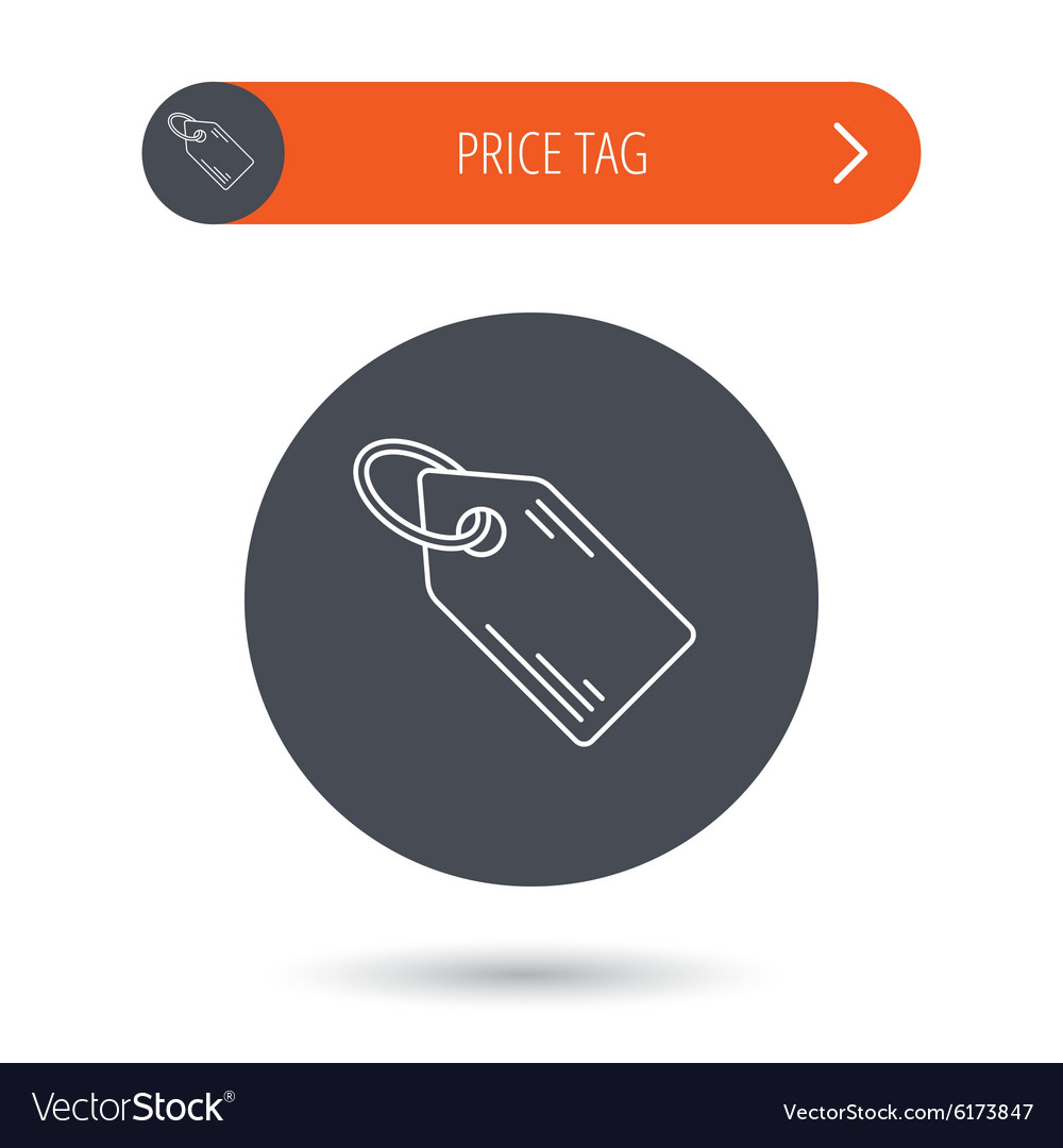 Price tag icon discount label sign vector