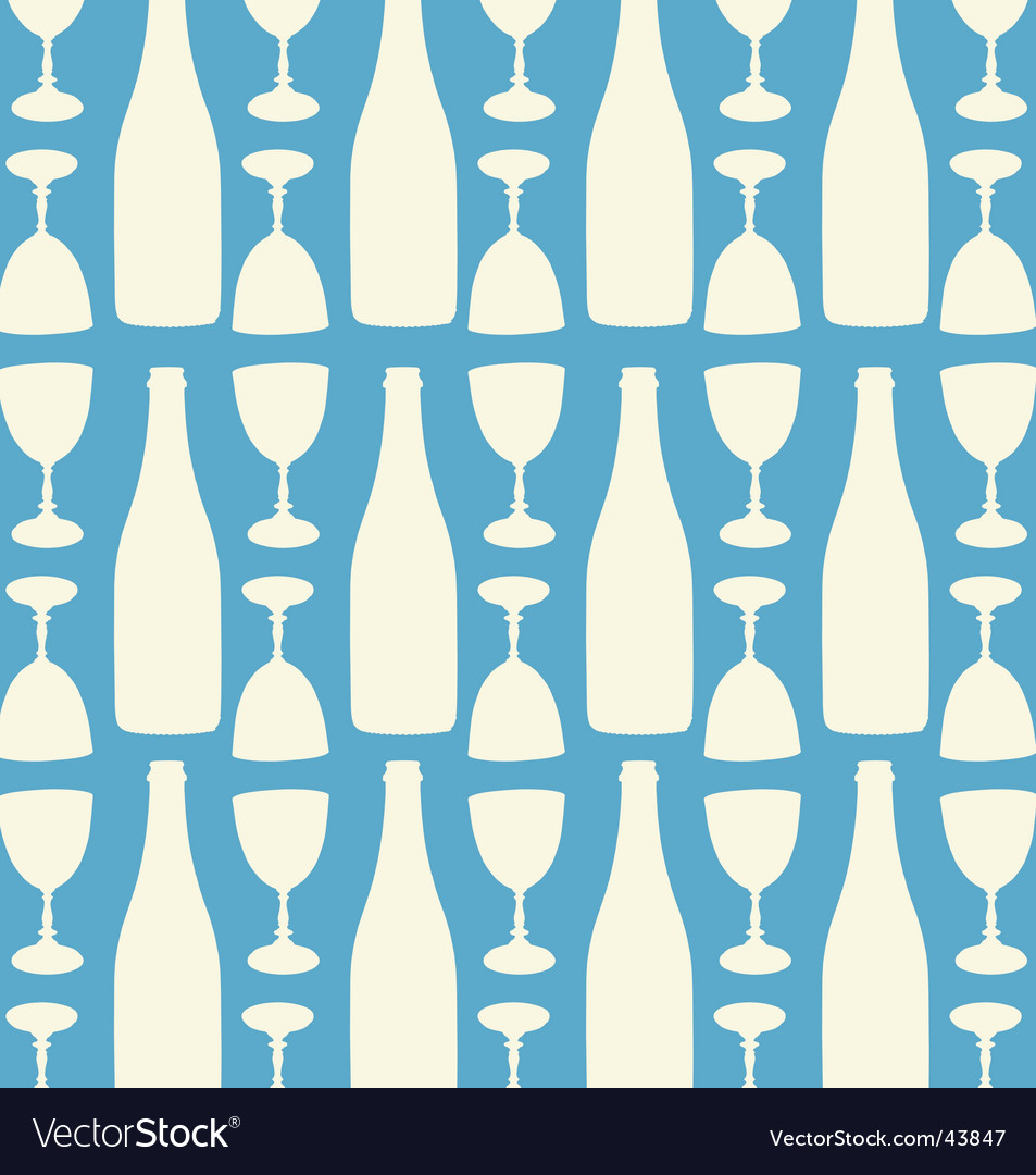 Wine and wine glasses pattern vector