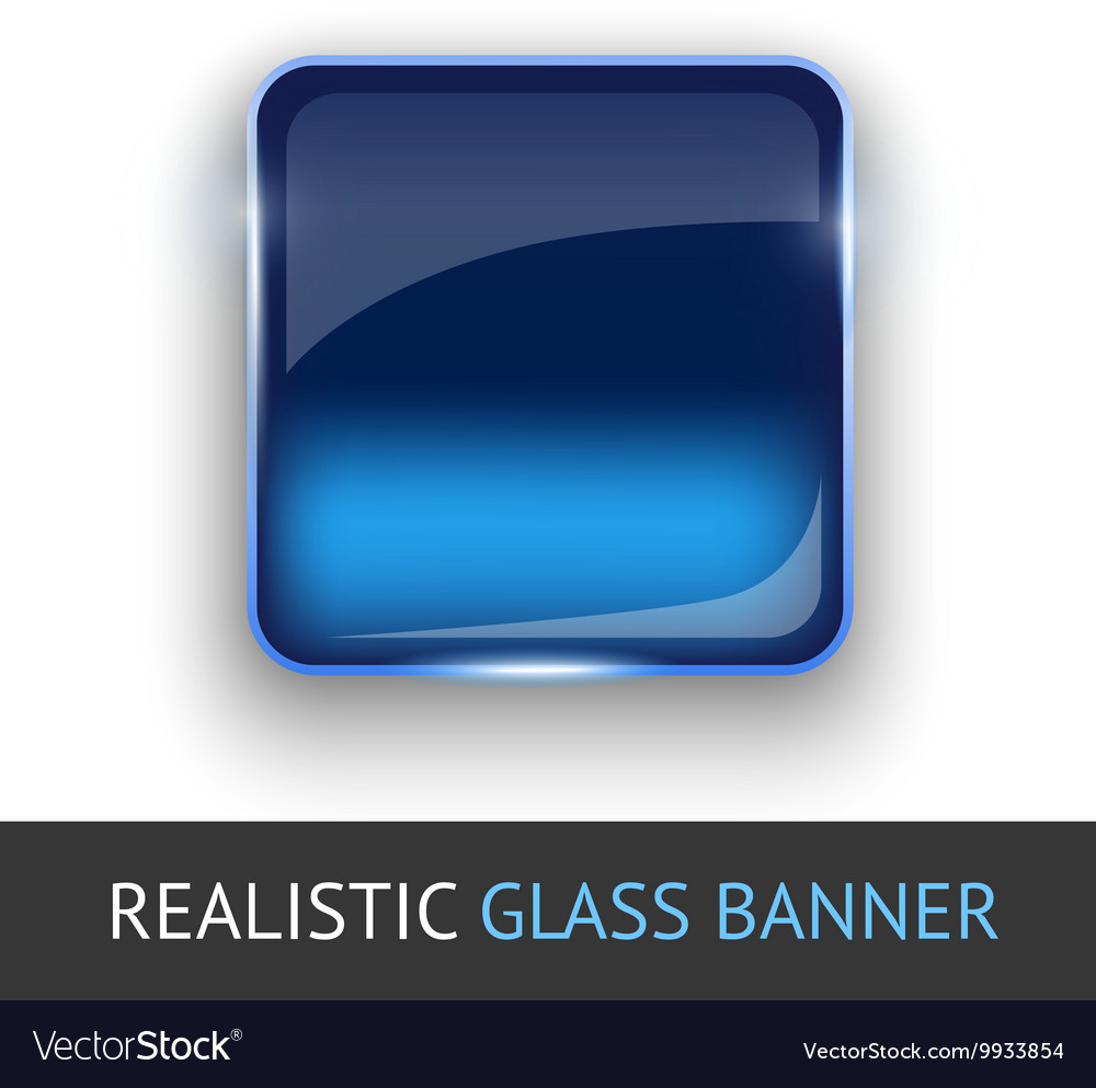 Glass banner for your design vector