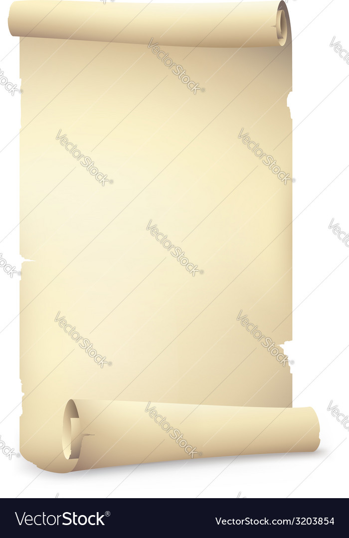 Old scroll paper banners drawing vector