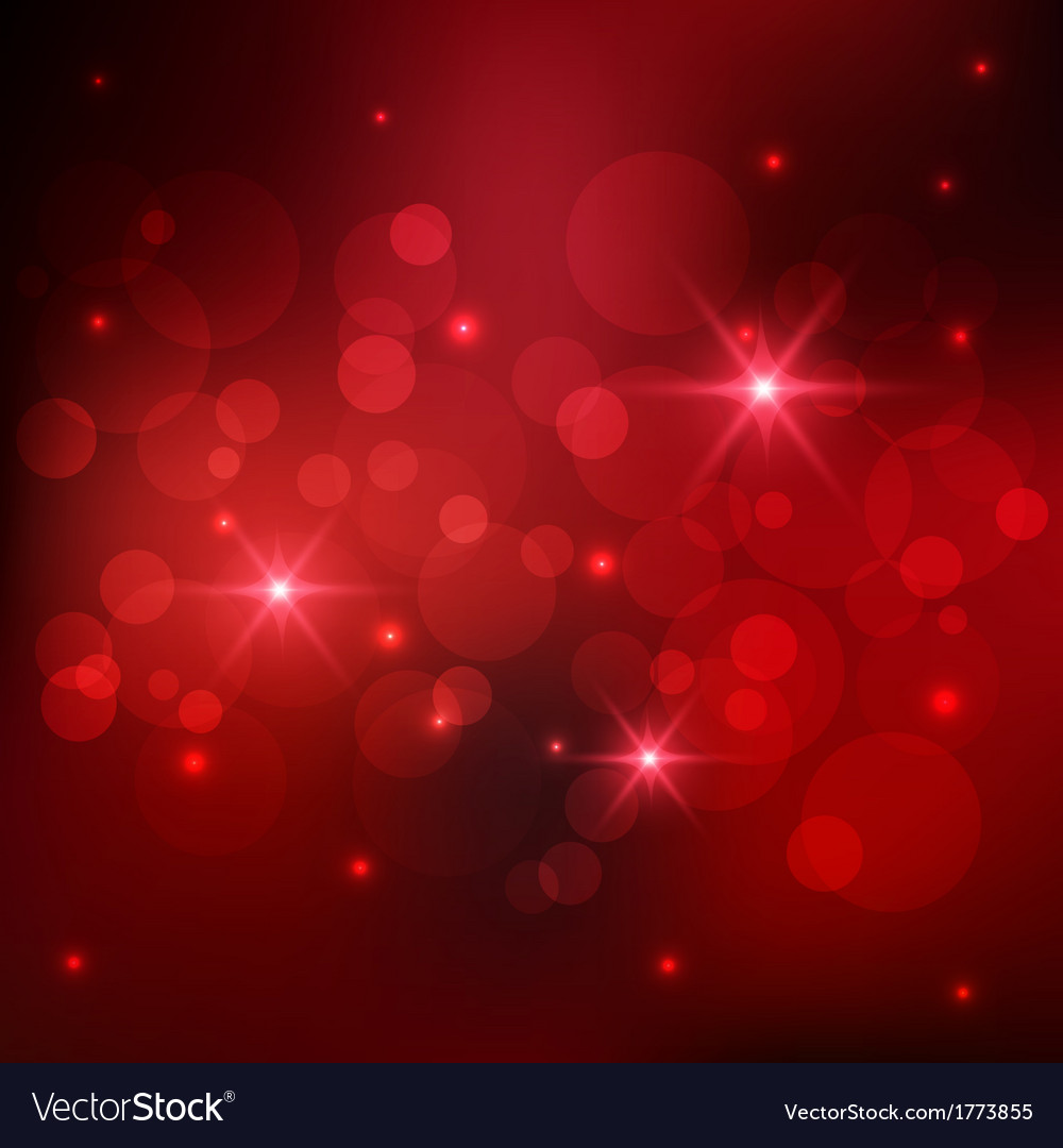 Bokeh red background vector