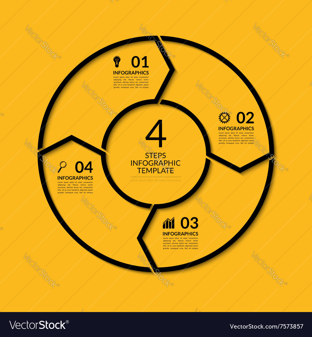 Infographic circle template with 4 steps vector