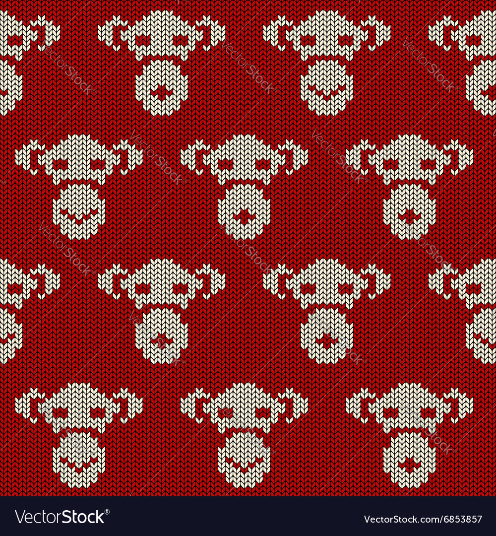 Retro seamless pattern with monkey vector
