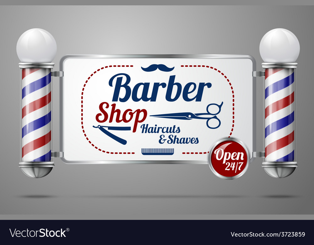 Two old fashioned vintage silver and glass barber vector