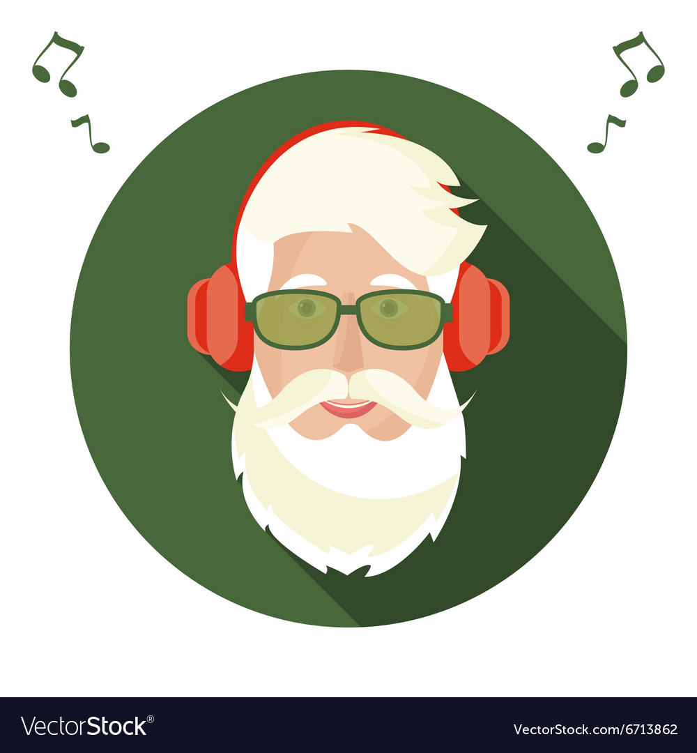 Santa claus face icon vector