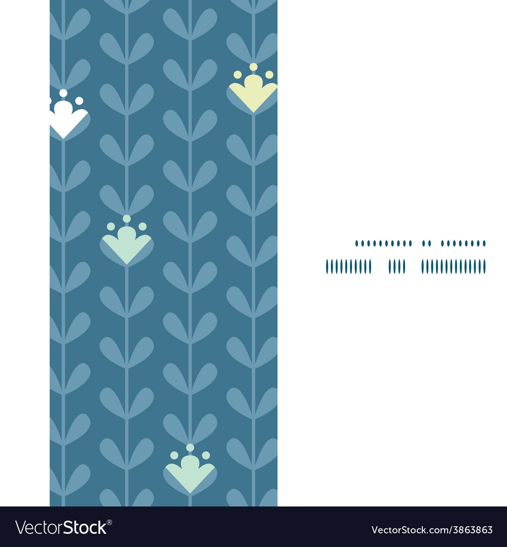 Blloming vines stripes vertical frame vector