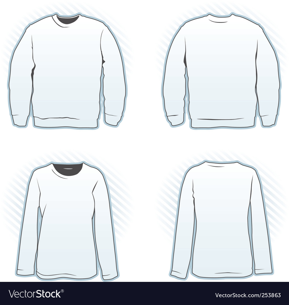 Sweatshirt design template set vector