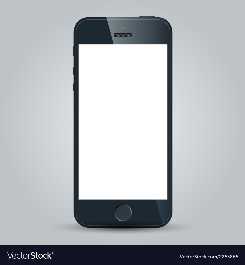 Black business mobile phone in iphone 5s style vector