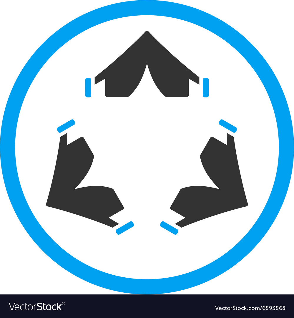 Tent camp rounded icon vector