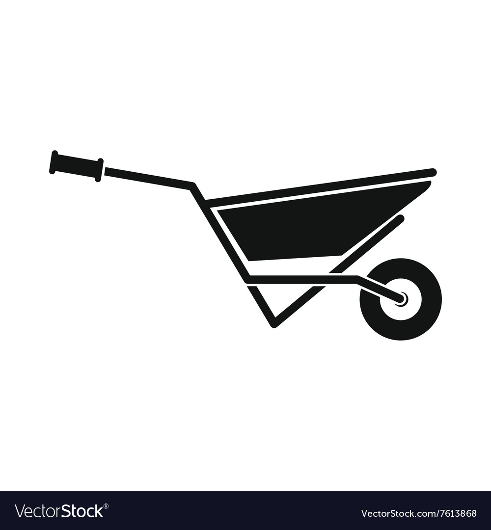 Wheelbarrow full of turf icon vector